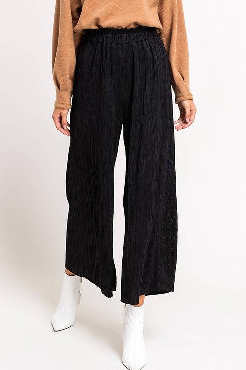Plisse Wide Leg Tunic Pant
