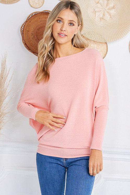 Off the Shoulder Pink Blush