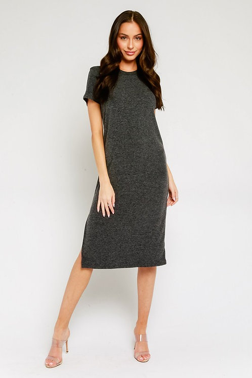 Midi Tee Dress by Olivaceous