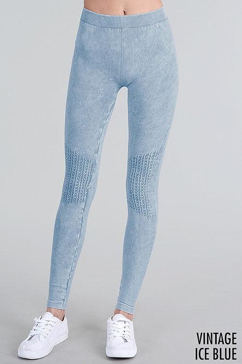 One Size Knee Shirring Long Leggings