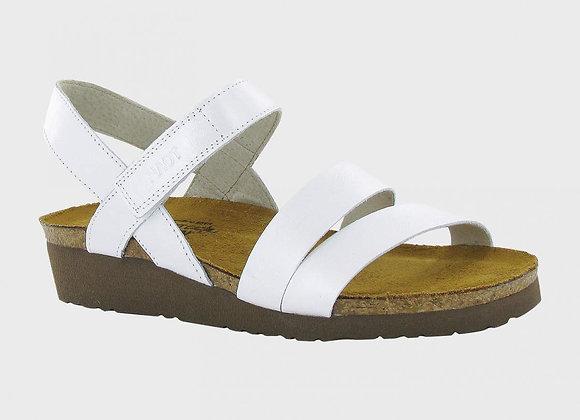 Kayla White Pearl Leather