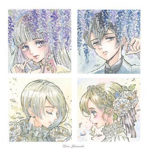 花のミニ原画