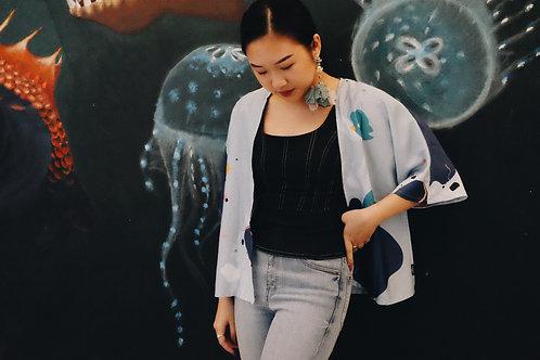 Dusty Blue Kimono Outer