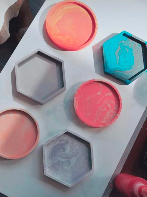 Make Your Own Marble-Style Coasters