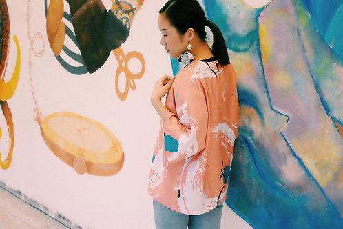 Peach Perfect Kimono Outer