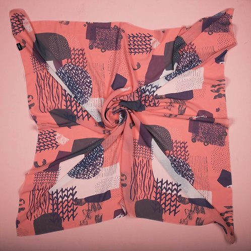 Salmon for Today Scarf (Square)