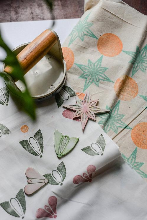 Block Printing on Pouch - Cahaya Ramadan Special