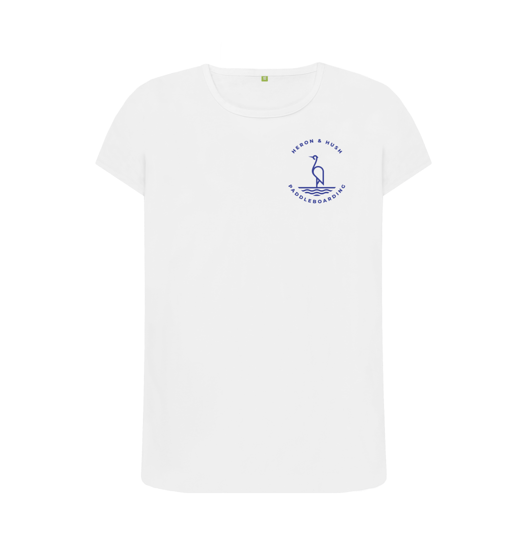 H&H Paddleboarding Ladies Tee Small logo
