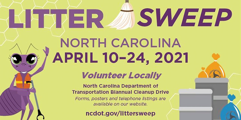 CCDP Litter Sweep Saturday!