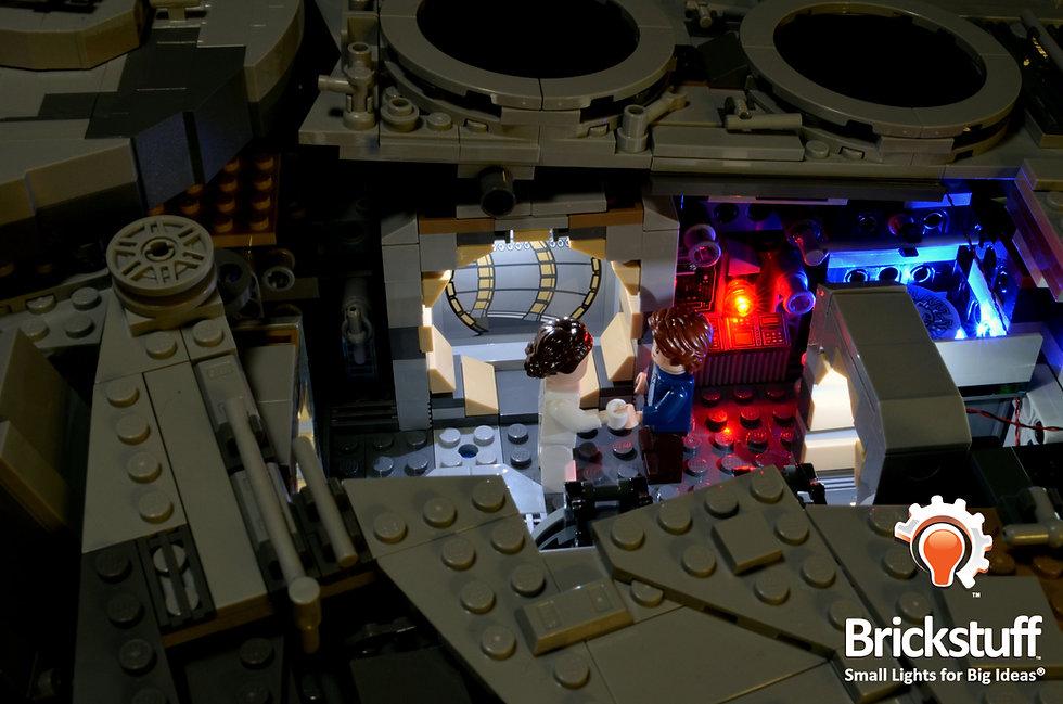 Han and Leia, LEGO UCS Millennium Falcon
