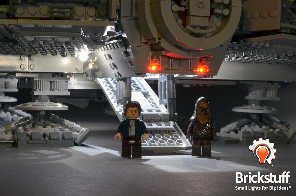 Han and Chewie, LEGO UCS Millennium Falcon