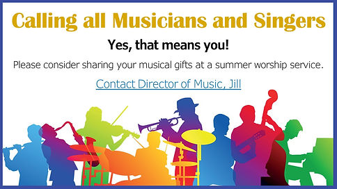 2021 05 23 Musicians for Summer Services