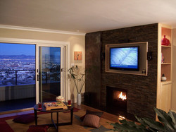 Fireplace with View