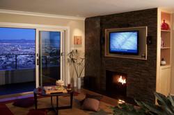SF Condo Fireplace view