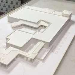 Like baking a cake! Our latest 3D printed architectural model measuring two by three feet in size