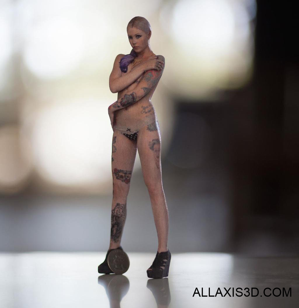 Full Color 3D printed figurine