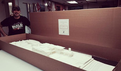 Our latest 3D printed architectural scale model measuring 183cm x 60cm (2'x6'). Printed exclusively