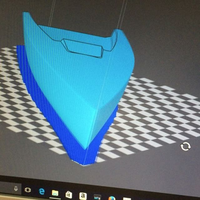 We're 3D printing a new hull design for a sailboat racing team! #3dprinting #3d #allaxis3d #sailing