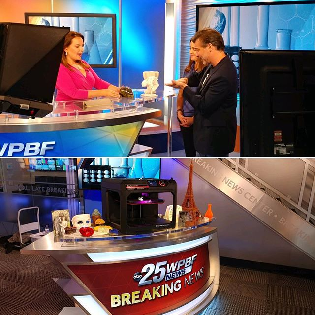So grateful to _wpbf25news for the opportunity to show off some of our 3D printing and the _sfscienc