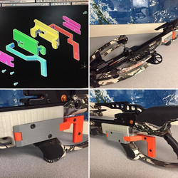 From design to 3D print we were able to retrofit the trigger mechanism of this state of the art cros