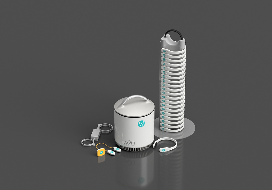 WAVE w100 System with 10 wearables