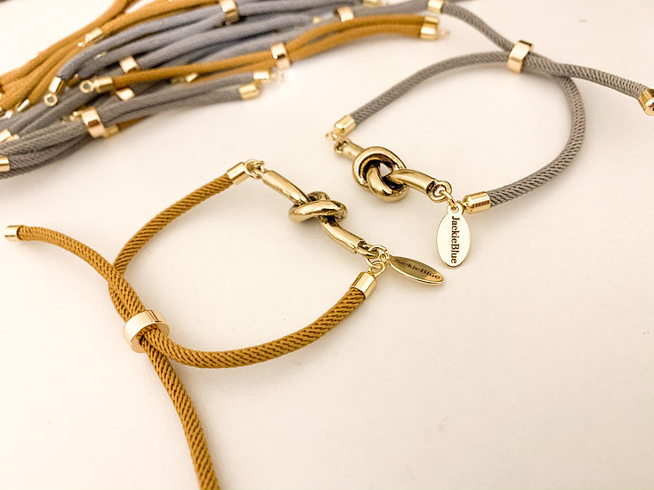 Knotted Bolo Bracelet