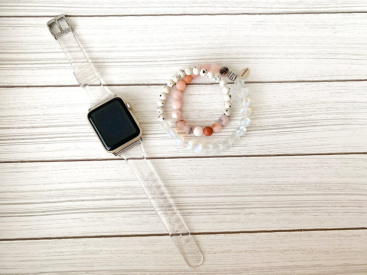 The Clueless Clear Apple WatchBand and Wrap Bracelet Set