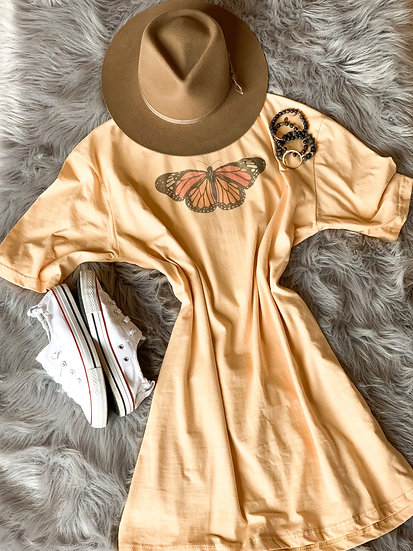 Painted Lady T-shirt Dress