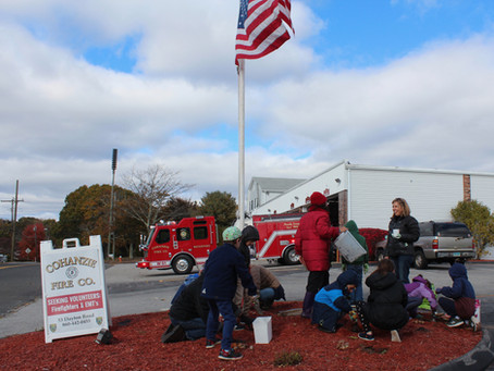 Planting Bulbs at the Fire Station
