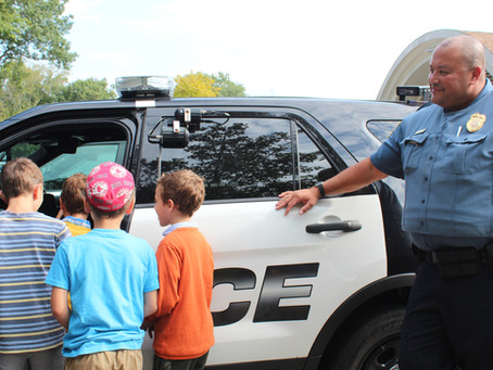 Visiting the Waterford Police Department on 9/11