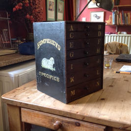 Vintage cabinet for animal remedies