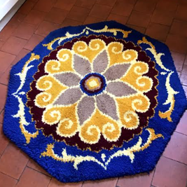 Vintage rugs for sale including rag rugs and latch hook rugs