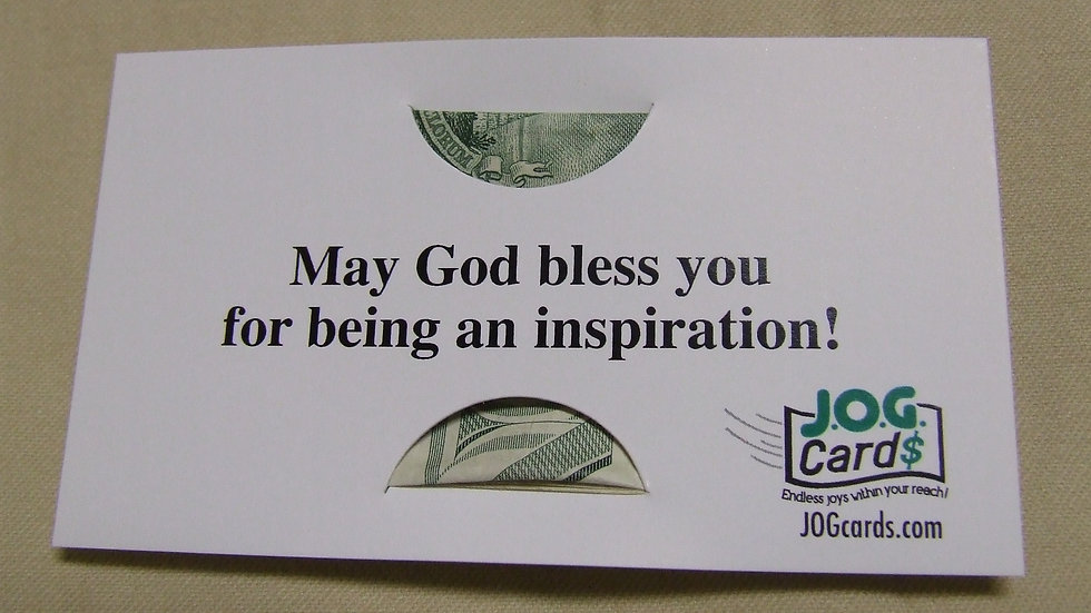 You're an inspiration!
