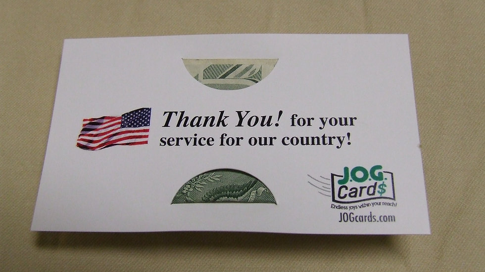 Thank you to the military!