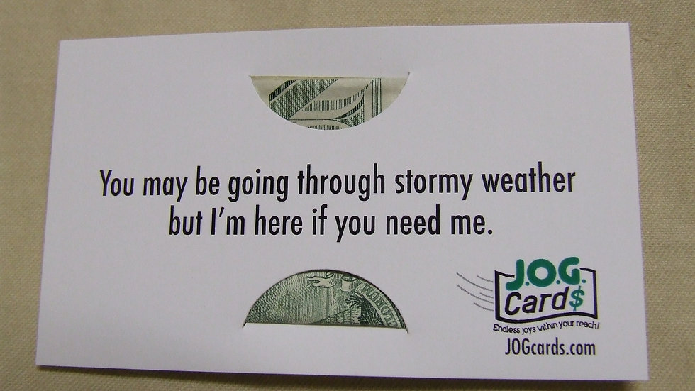 Stormy weather encouragement