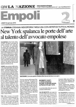 La Nazione, Empoli, January 2015
