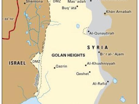 Israeli Sovereignty Over The Golan