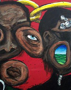 4 Jazz Heads (Coltrane detail)