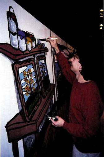 Art of Healing Mural (helping out)