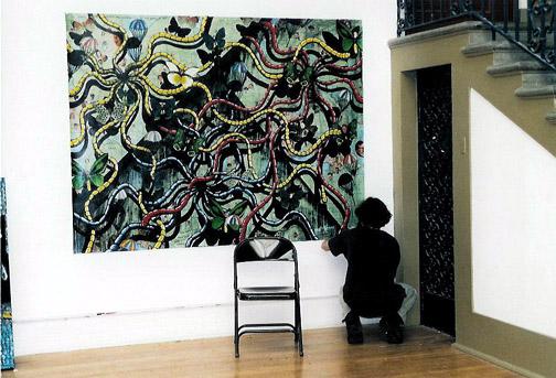 Installing-Diego Rivera Gallery SF