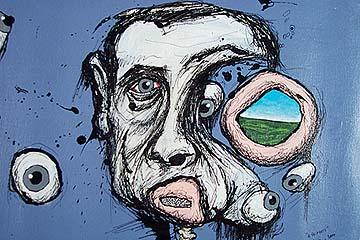 6 Artist heads (dtail Miro)