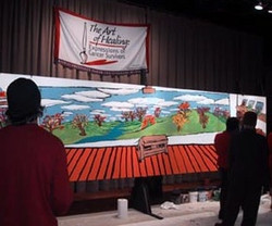 Art of Healing Mural (nearly done) - NYC