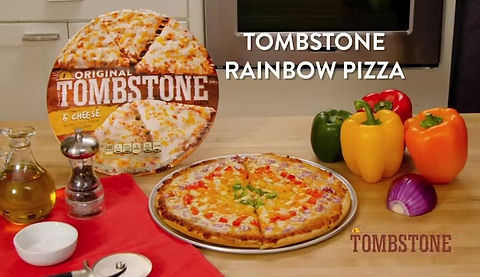 Rainbow Pizza for Tombstone