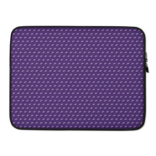 Purple Print Laptop Sleeve