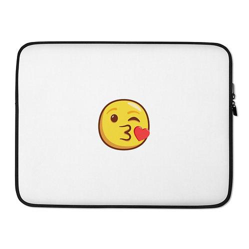 Laptop Emoji Print Sleeve
