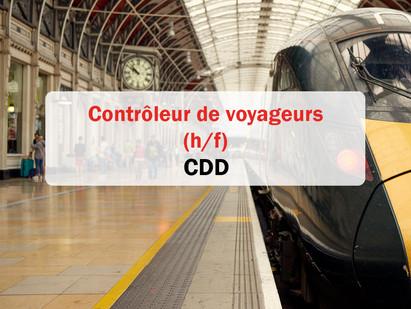 CDD / Contrôleur de voyageurs 🚄 (h/f) Brignais