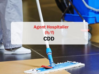 CDD/ Agent hospitalier 🏥💊(h/f) (offre pourvue)