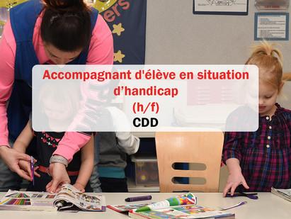 CDD / Accompagnant(e) d'élève en situation de handicap 🚸