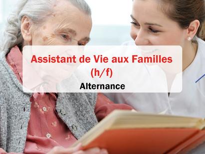 Alternance / Assistant de Vie aux Familles (h/f)