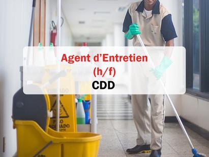 CDD/ Agent d'entretien 🧹 (h/f) Vourles